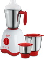 Maharaja Whiteline Convenio (mx-162) 500 W Mixer Grinder(White and Red, 3 Jars)