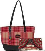 Anekaant Hand-held Bag(Red, Multicolor)