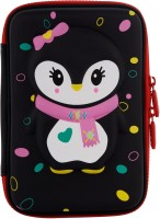 Ofsign MultiPurpose Cute Owl Art Canvas Pencil Box(Set of 1, Black)