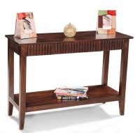 View Fischers Lifestyle Roma Solid Wood Console Table(Finish Color - Walnut) Furniture (Fischers Lifestyle)