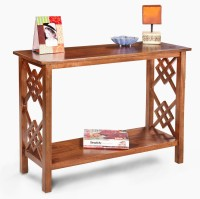 View Fischers Lifestyle Sumatra Solid Wood Console Table(Finish Color - Teak) Furniture (Fischers Lifestyle)