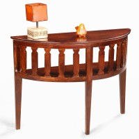 View Fischers Lifestyle Amalfi Solid Wood Console Table(Finish Color - Walnut) Furniture (Fischers Lifestyle)
