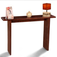 View Fischers Lifestyle Madrid Solid Wood Console Table(Finish Color - Walnut) Furniture (Fischers Lifestyle)