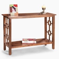 View Fischers Lifestyle Coorg Solid Wood Console Table(Finish Color - Teak) Furniture (Fischers Lifestyle)