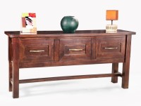 View Fischers Lifestyle Oxford XL Solid Wood Console Table(Finish Color - Walnut) Furniture (Fischers Lifestyle)