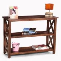 View Fischers Lifestyle Tivoli Solid Wood Console Table(Finish Color - Teak) Furniture (Fischers Lifestyle)
