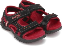 Footfun by Liberty Boys & Girls Velcro Strappy Sandals(Red)