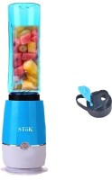 Stok ® ST-MJB01 Mixer Juicer Mini Bottle Blender with Travel Sport Bottle - 600ML 180 Juicer Mixer Grinder(Blue, 1 Jar)