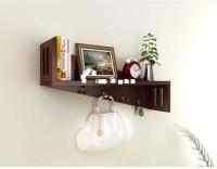 View khan handicrafts wooden wall shelf brown MDF Wall Shelf(Number of Shelves - 1, Brown) Furniture (Khan Handicrafts)