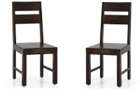 View Handicraft Bazar Handicraft Bazar HBDC07 - Blacix Mid Back Dining Chair Solid Wood Dining Chair(Set of 2, Finish Color - Walnut) Furniture