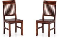 View Handicraft Bazar Handicraft Bazar HBDC10 - Verlin Wooden Dining Chair Solid Wood Dining Chair(Set of 2, Finish Color - Walnut) Furniture (Handicraft Bazar)