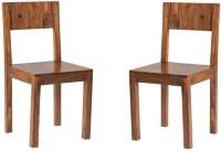 View Handicraft Bazar Handicraft Bazar HBDC03 - Lowline Back Sheesham Dining Chair Solid Wood Dining Chair(Set of 2, Finish Color - Warm Walnut) Furniture (Handicraft Bazar)