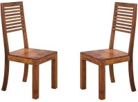 View Handicraft Bazar Handicraft Bazar HBDC01 - Sheesham Wood Liner Dining Chair Solid Wood Dining Chair(Set of 2, Finish Color - Warm Walnut) Furniture (Handicraft Bazar)