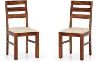 View Handicraft Bazar Handicraft Bazar HBDC06 - Horlin Standard Dining Chair Solid Wood Dining Chair(Set of 2, Finish Color - Walnut) Furniture (Handicraft Bazar)