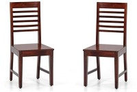 View Handicraft Bazar Handicraft Bazar HBDC08 - Aca Wooden Dining Chair Solid Wood Dining Chair(Set of 2, Finish Color - Honey) Furniture (Handicraft Bazar)