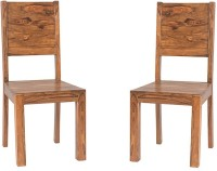 View Handicraft Bazar Handicraft Bazar HBDC02 - Backy Wooden Dining Chair Solid Wood Dining Chair(Set of 2, Finish Color - Warm Walnut) Furniture (Handicraft Bazar)