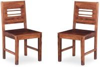 View Handicraft Bazar Handicraft Bazar HBDC04 - Changlar Capsule Dining Chair Solid Wood Dining Chair(Set of 2, Finish Color - Honey) Furniture (Handicraft Bazar)