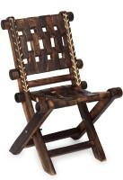 View Desi Karigar Vintage Low Height Solid Wood Chair(Finish Color - Brown) Furniture (Desi Karigar)