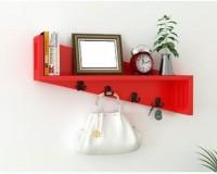 View khan handicraft khan handicrafts Wooden Wall Shelf(Number of Shelves - 1, Red) Furniture (Khan Handicrafts)