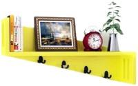 View khan handicrafts wall brackets shelf MDF Wall Shelf(Number of Shelves - 1, Yellow) Furniture (Khan Handicrafts)