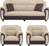 View Bharat Lifestyle New Sagittarius Fabric 3 + 1 + 1 Cream Brown Sofa Set Furniture (Bharat Lifestyle)