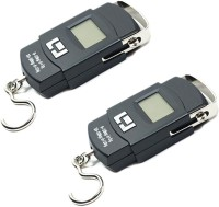 AmtiQ New Digital Electronic (Pack of 2) Portable 50Kg Luggage Weighing Scale(Black)