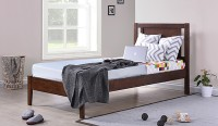 View Induscraft Solid Wood Single Bed(Finish Color -  Brown) Furniture (Induscraft)