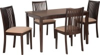 View Nilkamal Berry Solid Wood 4 Seater Dining Set(Finish Color - Espresso) Furniture