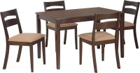 View Nilkamal Bahamas Solid Wood 4 Seater Dining Set(Finish Color - Espresso) Furniture