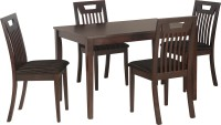 View Nilkamal Lexus Solid Wood 4 Seater Dining Set(Finish Color - Espresso) Furniture (Nilkamal)