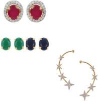 Zeneme Precious Combo of Interchangable Earrings & Earcuff Jewellery For Women and Girls Alloy Earring Set