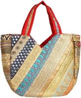 Saashiwear Women Gold Polyester Shoulder Bag