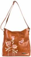 Chumbak Women Tan PU, Polyester Sling Bag