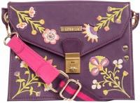 Chumbak Women Purple PU, Polyester Sling Bag