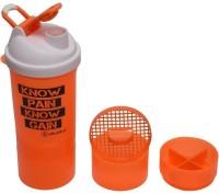 iShake Orange Body White Cap Matrix 500 ml Shaker(Pack of 1, Orange, White)