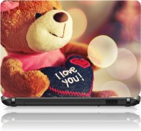 View The Print Cart I Love You Teddy Bear Vinyl Laptop Decal 15.6 Laptop Accessories Price Online(The Print Cart)