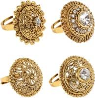 Zaveri Pearls Zinc Gold Plated Ring Set