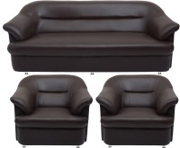 View Bharat Lifestyle Sagittarius Leatherette 3 + 1 + 1 Brown Sofa Set(Configuration - 3+1+1) Furniture (Bharat Lifestyle)