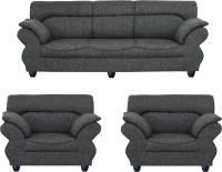View Bharat Lifestyle 107 Fabric 3 + 1 + 1 Dark Grey Sofa Set(Configuration - 3+1+1) Furniture (Bharat Lifestyle)