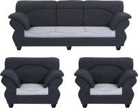 View Bharat Lifestyle 107 Fabric 3 + 1 + 1 Dark Grey Light Grey Sofa Set(Configuration - 3+1+1) Furniture (Bharat Lifestyle)