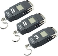 AmtiQ New Digital Electronic (Pack of 3) Portable 50Kg Luggage Weighing Scale(Black)