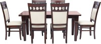 View shop klass Solid Wood 6 Seater Dining Set(Finish Color - chocolate brown) Furniture (shop klass)