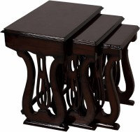 View DZYN Furnitures Solid Wood Nesting Table(Finish Color - Brown, Set of - 3) Furniture (DZYN Furnitures)