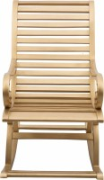 View DZYN Furnitures Solid Wood 1 Seater Rocking Chairs(Finish Color - Gold) Furniture (DZYN Furnitures)