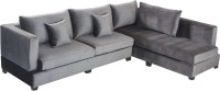 View Bharat Lifestyle Allen Fabric 6 Seater(Finish Color - Grey) Furniture (Bharat Lifestyle)