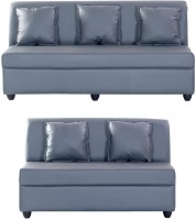 View Bharat Lifestyle Delta Leatherette 3 + 2 Grey Sofa Set(Configuration - 3+2) Furniture (Bharat Lifestyle)