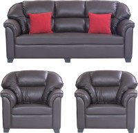 View Bharat Lifestyle Riyan Leatherette 3 + 1 + 1 Brown Sofa Set(Configuration - 3+1+1) Furniture (Bharat Lifestyle)