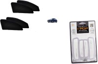 Petrox Premium Quality Zipper Magnetic Car Curtain With Ipop Door Guard For New Dzire Combo