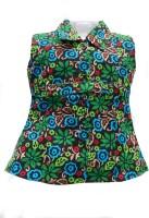 BG Girls Mini/Short Casual Dress(Multicolor, Sleeveless) thumbnail