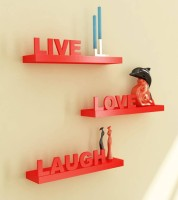 View Masterwood Love wall shelf MDF Wall Shelf(Number of Shelves - 3, Red) Furniture (Masterwood)